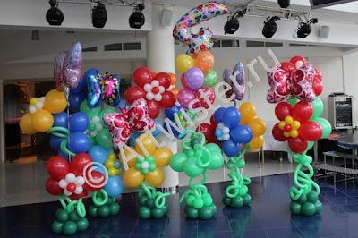 Украшение детского дня рождения  воздушными шарами 4 года