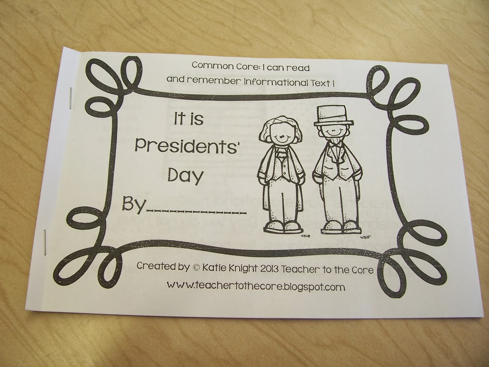 Second Grade Signpost A Belated President S Day Activity