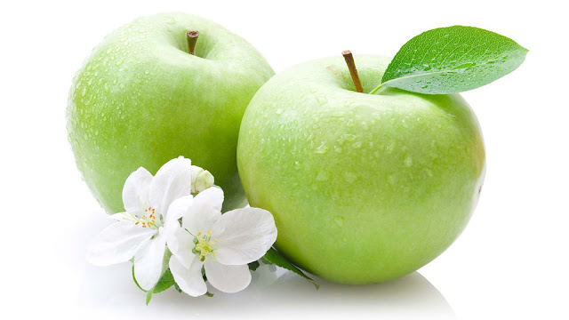 wallpaper buah apel hijau