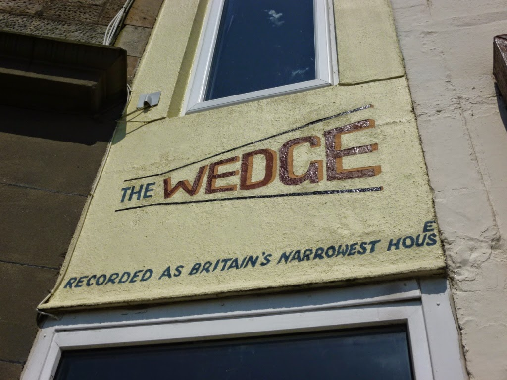 The Wedge - The World's Narrowest House. In Millport on the Isle of Cumbrae