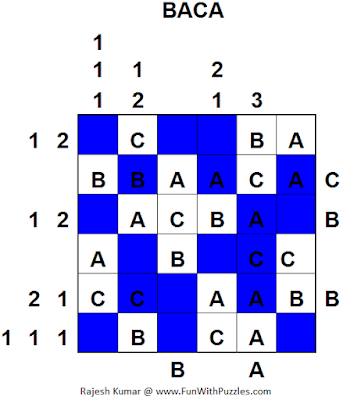 BACA (Mini Puzzles Series #29) Solution