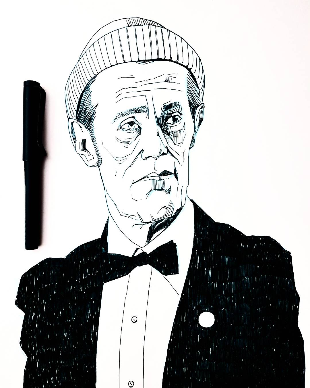 Life Aquatic Willem Dafoe Drawing