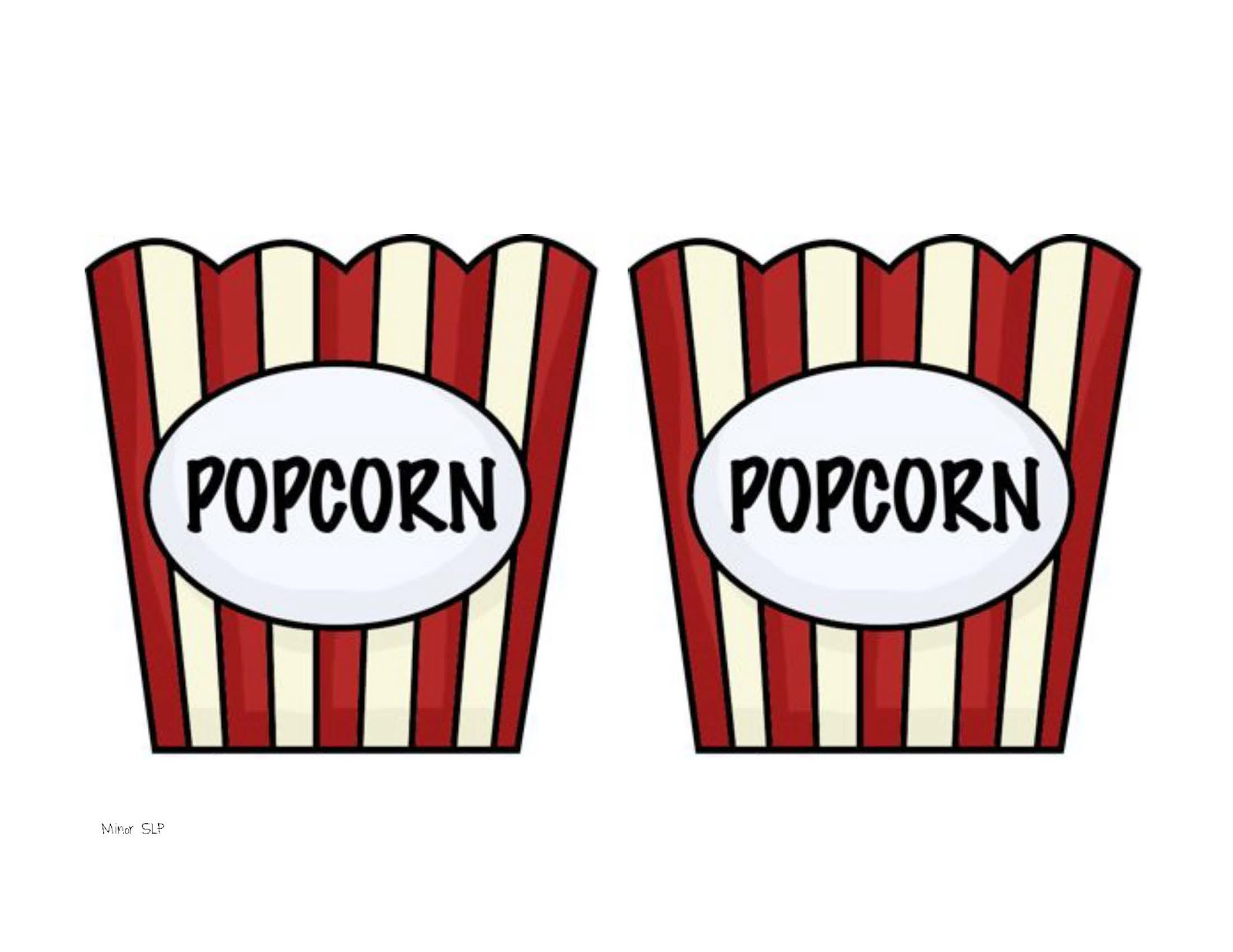 Free coloring pages of bag of popcorn