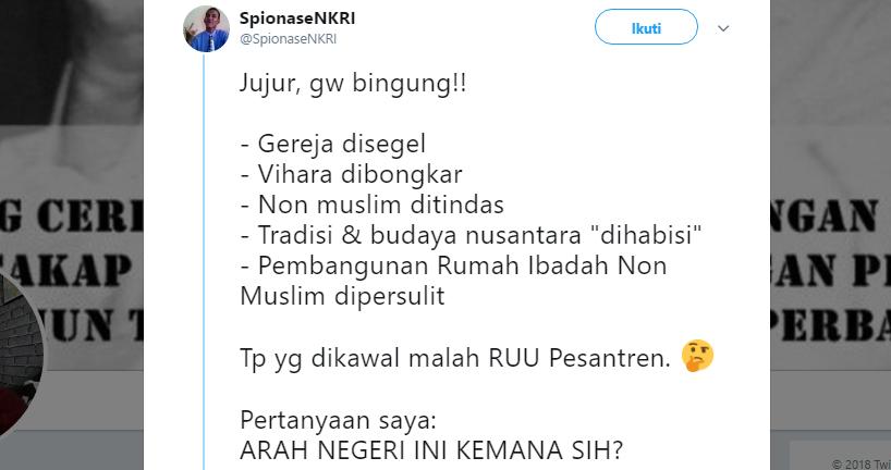 JEDEEER! Beberkan Bukti Intoleransi Kristen, Aktivis Buruh Non Muslim HAJAR TELAK Pendukung Jokowi yang Sebut Umat Islam Intoleran