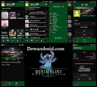 BBM Mod Theme Oppo Smatphone 2.8.0.21 List Anime