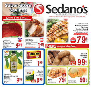 ⭐ Sedanos Ad 1/22/20 ⭐ Sedanos Weekly Flyer January 22 2020