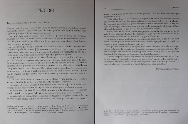 Texto en prosa a modo de leyenda con el que da premisa la obra de teatro «El loco de la aurora» de Miguel Ángel Asturias