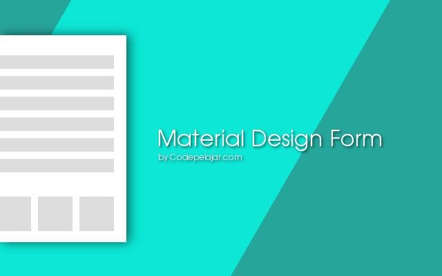 Tutorial Material Design Form dengan Materialize CSS