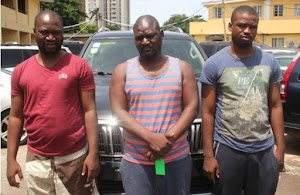 'Yahoo Big Boys' Living An Extravagant Lifestyles With Fraud Money Nabbed In Lagos By EFCC
