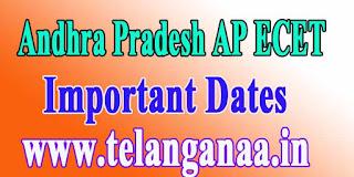 Andhra Pradesh AP ECET APECET 2017 Important Dates