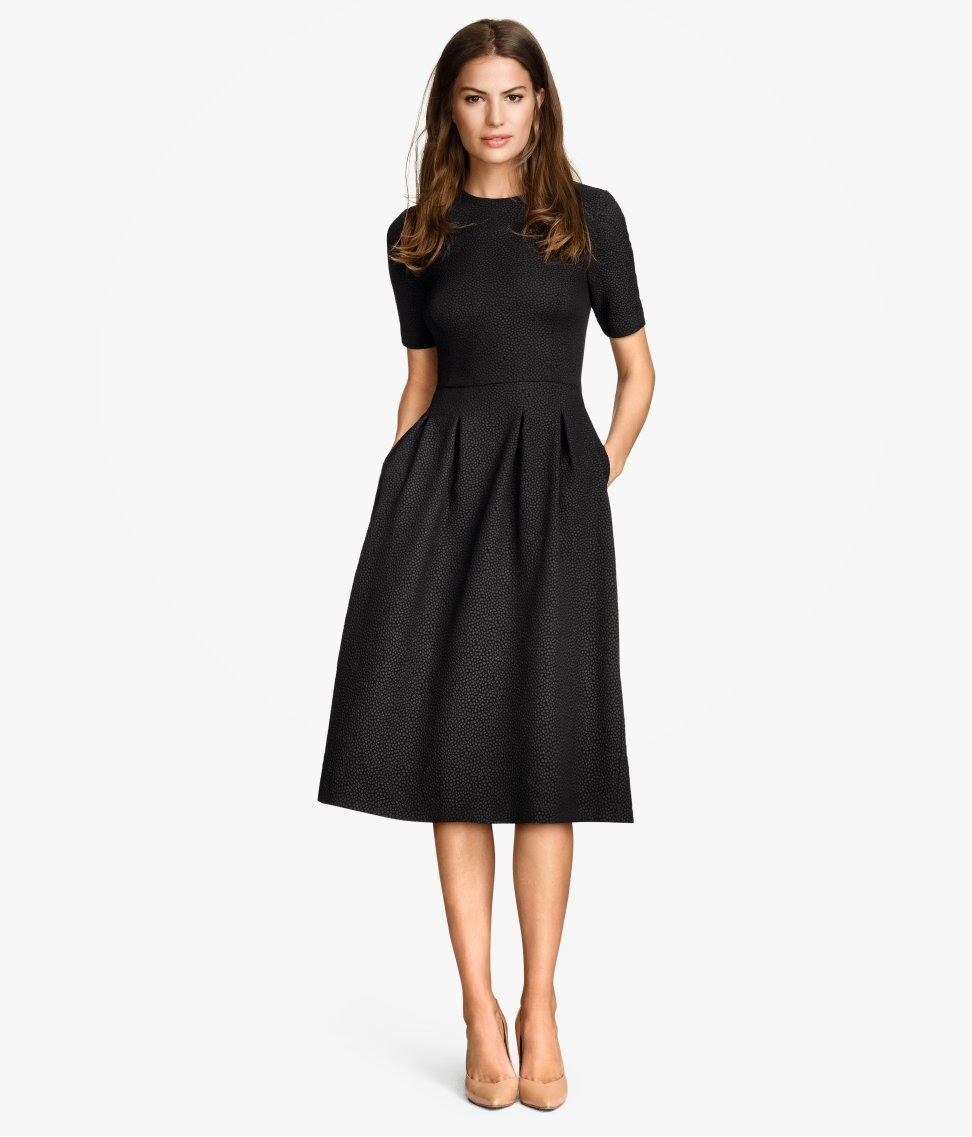 Modest black midi below the knee dresses  460c62063