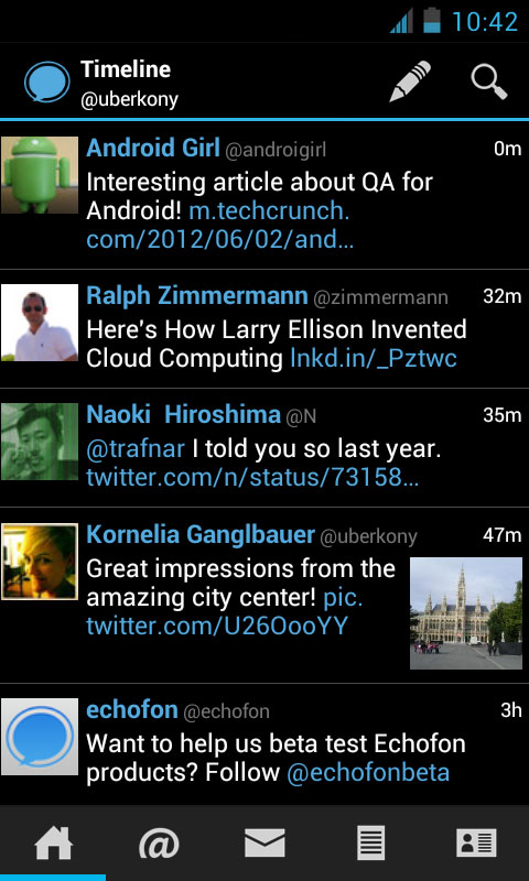 Echofon Beta for Android