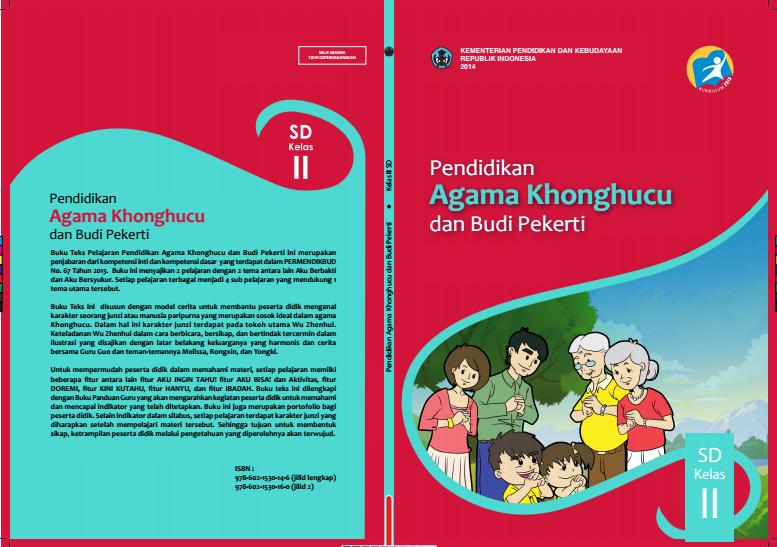Download Gratis Buku Siswa Pendidikan Agama Khonghucu dan Budi Pekerti Kelas 2 SD Kurikulum 2013 Format PDF