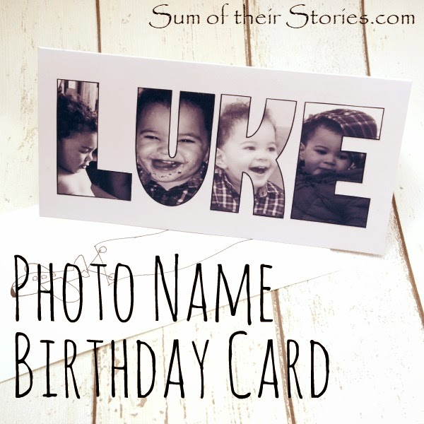 Photo Name Birthday Card