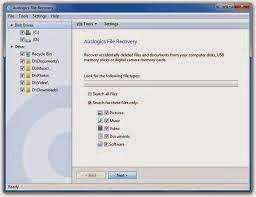 برنامج استعادة الملفات المحزوفة Auslogics File Recovery جو