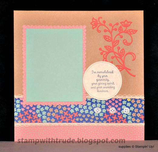 Scrapbook Sunday, scrapbook page, Stamp with Trude, Stampin' Up!, Thankful Thougtls