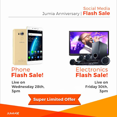 social_media_flash_sale Jumia 5th Year Anniversary: You Are Getting Up to 70% OFF! Take a Sneak Peek into What's Coming Your Way Apps