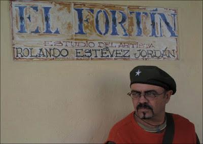 Rolando Estevéz en su Estudio El Fortín