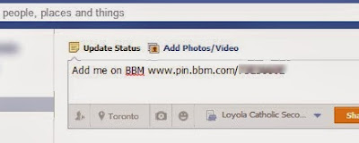 Easy way to add BBM contacts from Facebook