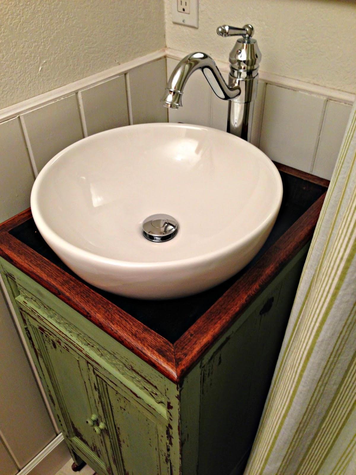 terrific bathroom storage cabinet | blue roof cabin: Victrola to Vanity Cabinet