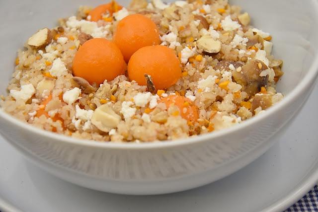 boulghour riz chataigne marron feta courge cleopatra dukah thiercelin