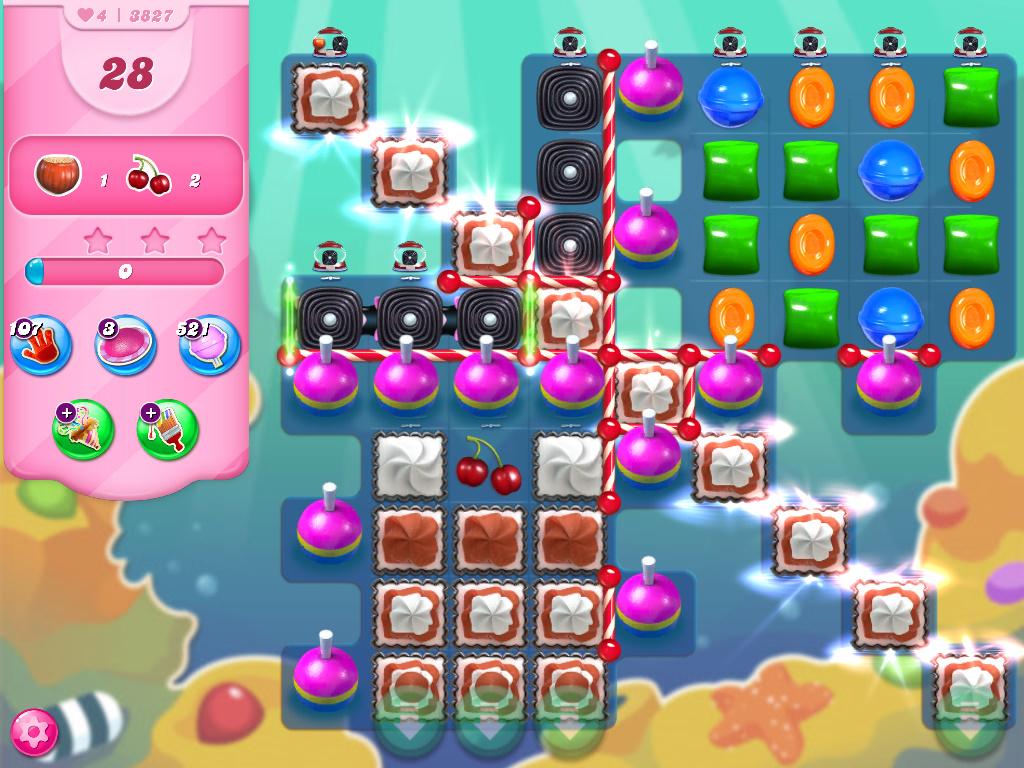 Candy Crush Saga level 3827