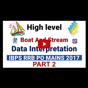 High Level Boat & Stream | Data Interpretation | Part 2 | Maths | IBPS RRB PO MAINS 2017