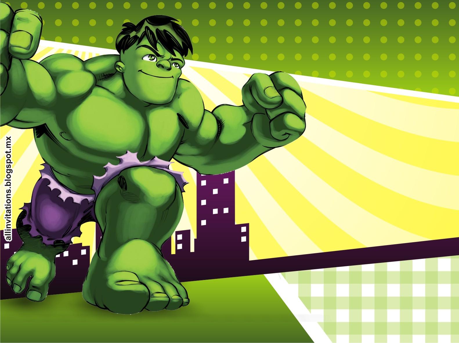 All Invitations: Hulk Super Hero Squad