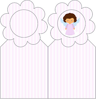 Brunette Angel Girl, Free Printable Bookmarks.