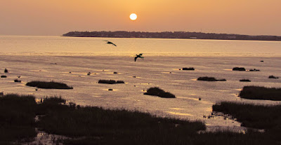 Sunset over Gironde Estuary