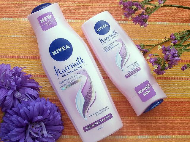 Nowości od Nivea - szampon i odżywka do włosów Hair Milk Natural Shine