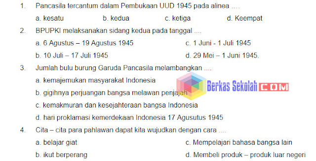 Bank Soal PKn SD Kelas 6 Kurikulum 2013 dengan Kunci Jawaban