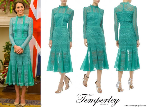 The Duchess wore Temperley London Desdemona dress from the Autumn 2016 Collection