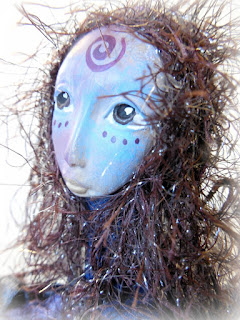 Dragonfly Beaded Art Doll by Jeanne Fry