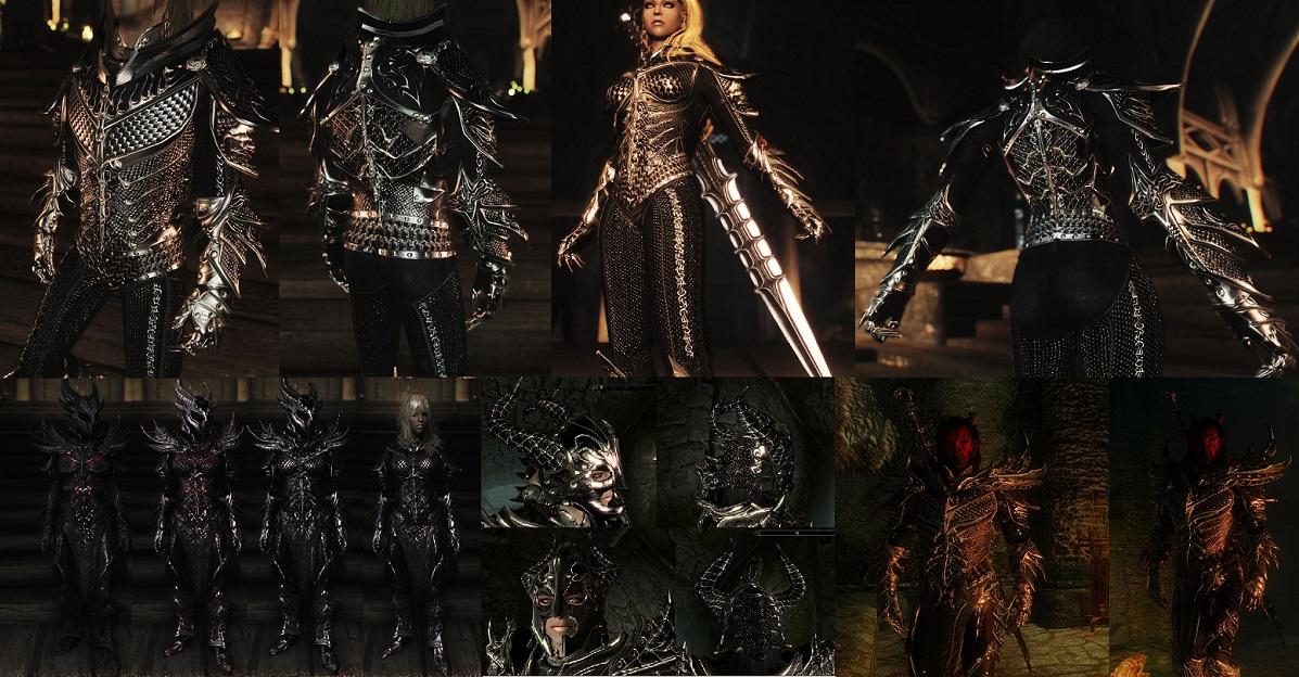 Daedric Armor and weapon Improvement [UNP] ~ Eskyrim