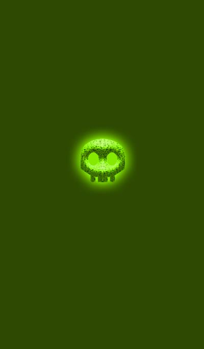 Simple green skull