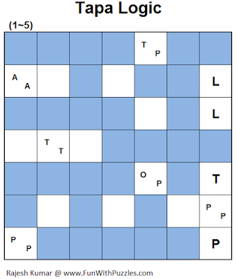 Answer of Tapa Logic (Mini Puzzles Series #38)