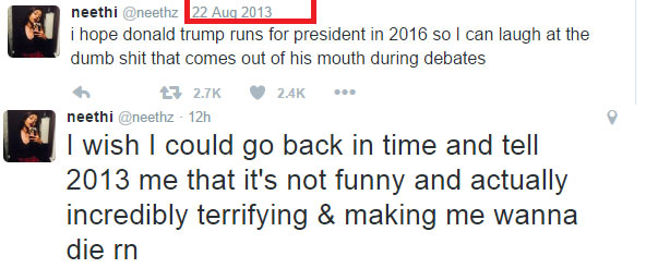 I wish it was a joke - Girl who predicted Donald Trump contesting US presidency
