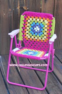 Calleigh S Clips Amp Crochet Creations Folding Lawn Chair