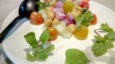 Healthy Tasty food  Simple Salad Recipe chick pea salad