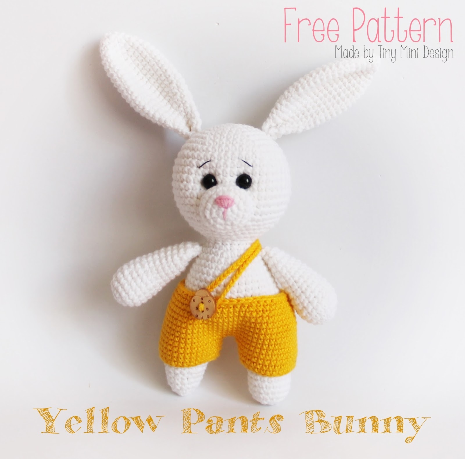 Kokeshi Amigurumi Pattern Free : Amigurumi Yellow Pants Bunny-Free Pattern - Amigurumi Free ...