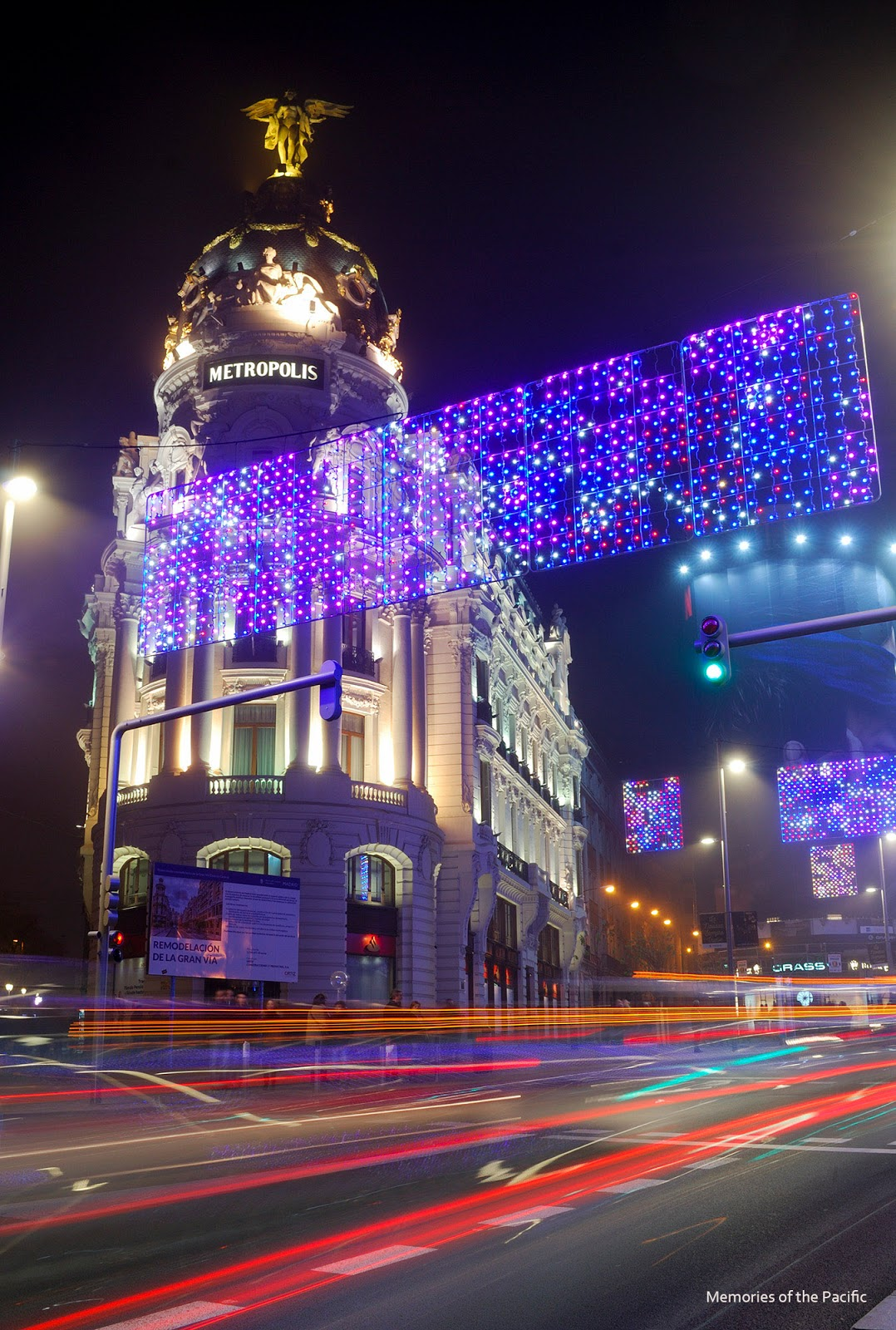 madrid christmas lights alcala metropolis gran via luces navidad
