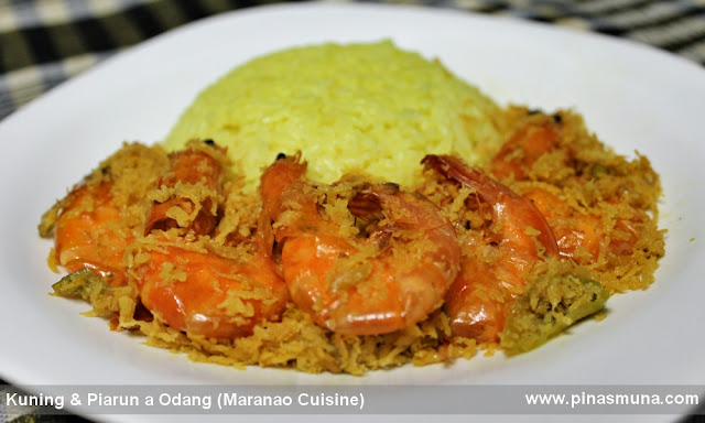 Turmeric Rice Kuning and Piarun a Odang Maranao Shrimp Dish