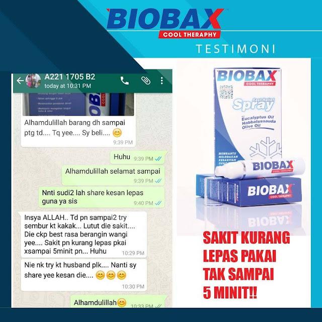 testimoni pengguna biobax cool therapy
