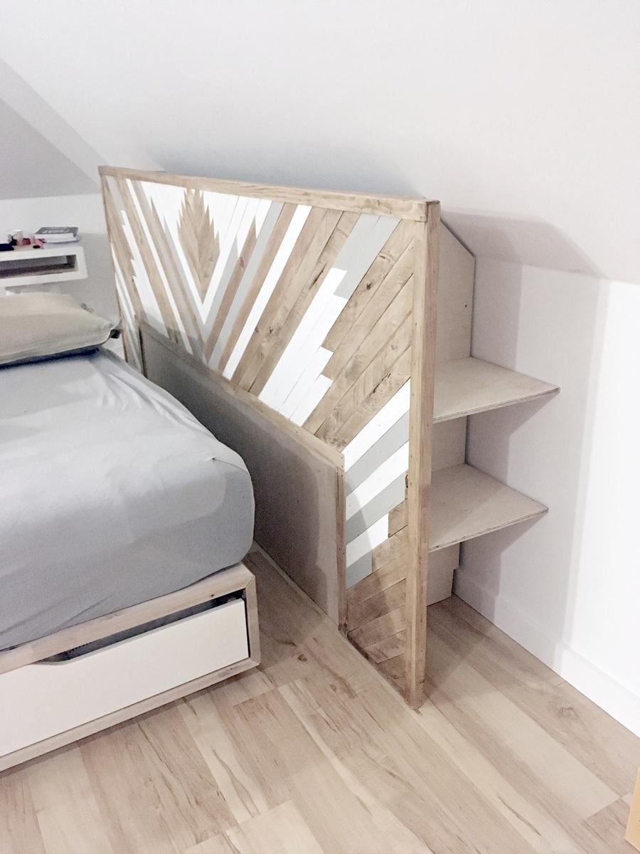 Jak zrobić drewniany zagłówek do łóżka w stylu boho? Poradnik krok po kroku i darmowe materiały i plany - tylko na www.any-blog.pl