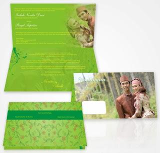 contoh undangan resepsi pernikahan islami