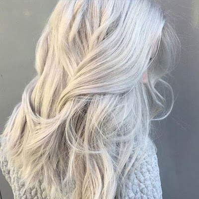 complete gray hair look