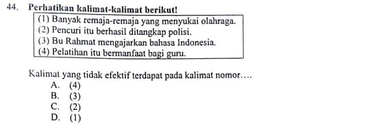 Pembahasan Soal Un 2016 2017 Bahasa Indonesia Smp Mts