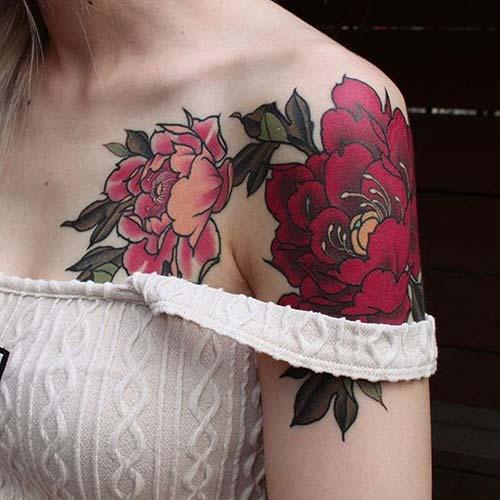 kadın omuz dövmeleri woman shoulder tattoos 9