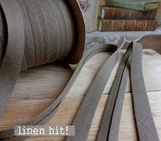 lamówka lniana khaki Linen Hit!
